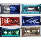 Nice Magic Mermaid Pillow Sequin Cover Glitter Sofa Cushion Case Double Color