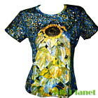 GUSTAV KLIMT Sunflower Garden T SHIRT TOP NOUVEAU FINE ART PRINT PAINTING