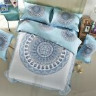 Mandala Indian Doona Cover Set New Cotton Light Blue Quilt Duvet Covers Bohemian