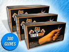 300 TIGER GRIP 7 MIL HEAVY DUTY ORANGE TEXTURED NITRILE GLOVES - (CHOOSE SIZE)