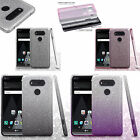 For LG V20 SHINE HYBRID HARD Case Rubber Phone Cover Accessory +Screen Protector