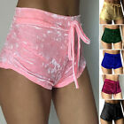 Sexy Women Ladie's Velvet Runner Casual Fashion Shorts High Waist Hot Pants New