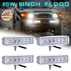 4X 6inch 18W LED Work Light Bar Flood Off-road Driving 4WD  ATV UTE Truck Boat