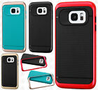For Samsung Galaxy S7 / S7 EDGE HARD Frame HYBRID HARD Case Rubber Phone Cover