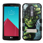 For LG G4 Incredible Hulk Rugged Hard Impact Hybrid Rubber Case Cover+Kickstand