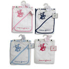 Beverly Hills Polo Club Infant Hooded Towel + Washcloth Gift Set Boy Girl NEW