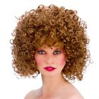 Adult Deluxe 80s DISCO PERM WIGS Blonde Black Brown Vicky Pollard Sandy etc