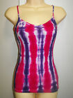 LADIES TIE DYE / DYED HIPPY RAVE DOOF SINGLET CAMI SIZE MEDIUM to fit a 10