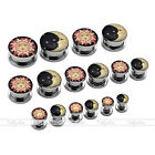 6G-5/8'' Gauges Steel Tribal Sun Moon Ear Plug Tunnels Expander Stretcher Earlet