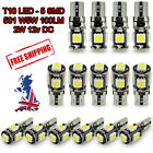 CAR SIDE LIGHT BULBS 5 SMD CANBUS ERROR FREE T10 501W5W LED XENON ICE BLUE/WHITE