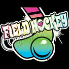Field Hockey Neon Graphic Girl Sports T-Shirt Sizes Youth-6XL Tee