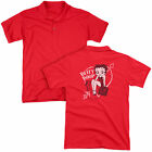 Betty Boop/Lover Girl (Back Print) Mens Regular Fit Polo in Red $34.67 USD