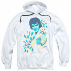 Elvis/Peacock Adult Pull-Over Hoodie in White