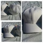 Mens Womens White baseball Cap Hat Solid color fitted baseball cap 6-7 5/8