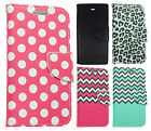 For HTC Desire 520 Leather 2 Tone Wallet Case Pouch Flip Cover + Screen Guard