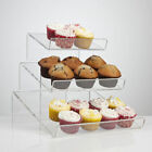 Clear Food-Grade Acrylic Angled Tiered Display Cupcake Stand - 300/500mm Width