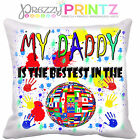 FATHERS DAY DADDY CUSHION GREAT GIFT CAN BE PERSONALISED CUTE CHILDS PRESENT