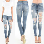 women s heavy distressed shredded torned ripped