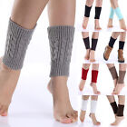Women Winter Warm Knit  Leg Warmers Crochet Leggings Boot Socks Topper Cuffs New