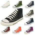 Ladies Spot On Canvas Lace Up Hi-Top Pumps/Casual Shoes Style X0002