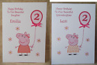 Handmade Personalised Peppa Pig Birthday Girl Card 1st 2nd 3rd 4th 5th other