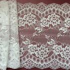 "Laces Galore ~Clipped Ivory Wide Delicate Lace 7.5""/19 cm Craft/Trim/Bridal"