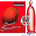 Secura Quality Strawberry Flavoured Condoms 3,6,12 or Bulk Saving Wholesale 100