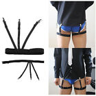1 Pair  Black Shirt Garter Elastic Belt Suspender Brace Straight Holder