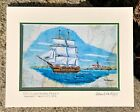 OLIVER HAZARD PERRY TALL SHIP ART PRINT Beavertail Sailing RI Navy Gift Boat Sea