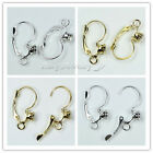wholesale Silver/gold Plated French Earring with Rhinestone hooks 23x12mm