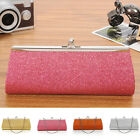 Women Glitter Clutch Purse Evening Party Wedding Banquet Handbag Shoulder Bag MI