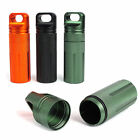 New Camping Survival Gear Aluminum Waterproof Pill Match Container Storage Box
