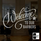 WELCOME BARBERS Frosted or White Vinyl Cut Window Glass  Decal Stickers Shop
