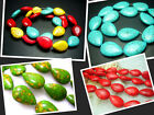 "13x17,16x25MM Beautiful Howlite Turquoise teardrop Loose Beads 16"" T038"
