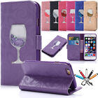 Luxury Flip Magnetic Leather Quicksand Wallet Case Cover For iPhone 6s 7 7 Plus