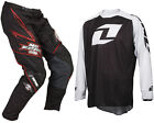 NO FEAR ENERGY MOTOCROSS MX KIT PANTS with ONE INDUSTRIES ICON JERSEY bike
