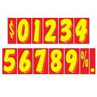 7 1/2 Inch Red & Yellow Adhesive Number  (multiple item shipping discount)