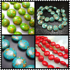 8 / 10 / 12 / 14/ 20MM Turquoise Oblate Loose Beads Gemstone Jewelry 16""