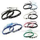 2pcs/set HIS HERS Nylon Braided Adjustable Bracelet Lover Couple Valentines Gift