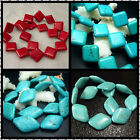 12, 18, 20X30, 24X34MM Beautiful Rhombus Turquoise Gemstone Loose Beads 16""