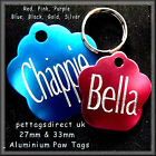 ** DOG & CAT Pet ID Tags, 7 Colours Supplied with Free Split Ring/s Low Priced