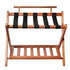Welland LLC Wood High Back Folding Luggage Rack