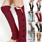 Women Girls Boot Socks Lace Beauty Leg Warmers Crochet Knit Knee High Leggings