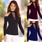 New Fashion Womens Long Sleeve Shirt Casual Blouse Ladies Tops T Shirt S M L XL