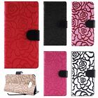For Samsung Galaxy J3 Emerge ROSE Leather Wallet Case Pouch Flip Phone Cover