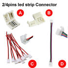 2 4 Pins LED Strip Clip Adapter Connector For 3528 / 2835 5050 RGB Strip Light