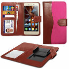 For Oukitel k4000 - Fabric Mix Clip Function Wallet Case Cover