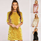 PLUS Women's Slim Soft Long Sleeve Casual Evening Party Cocktail Lady Mini Dress