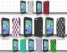 For Apple iPhone 5C HYBRID CHECKER Impact Resistance Case Phone Cover Accessory