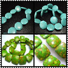 18mm, 21mm, 25mm Turquoise Square / Eight Side Loose Beads 16""
